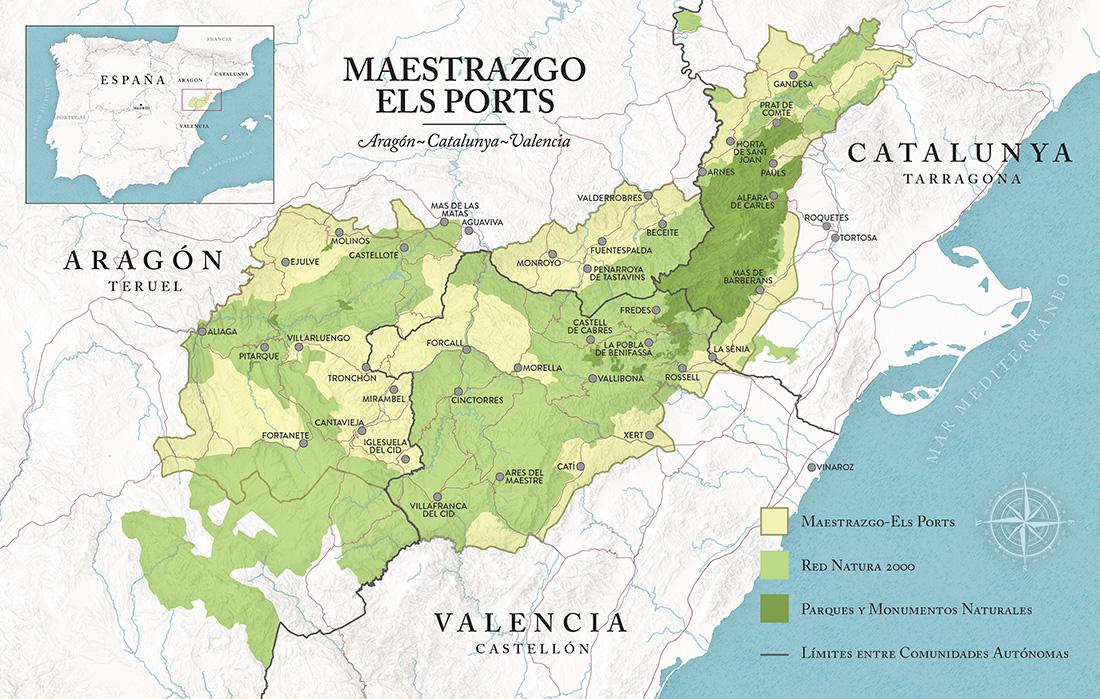 Mapa Maestrazgo-Els Ports